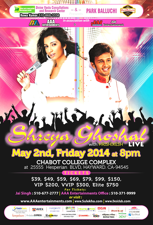 Shreya Ghoshal Live with Hrishikesh
