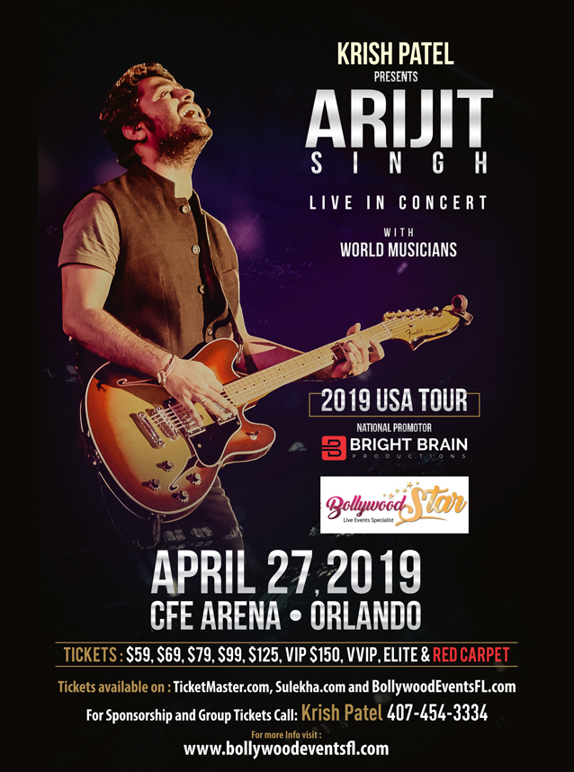 ARIJIT SINGH LIVE IN CONCERT -  CHICAGO