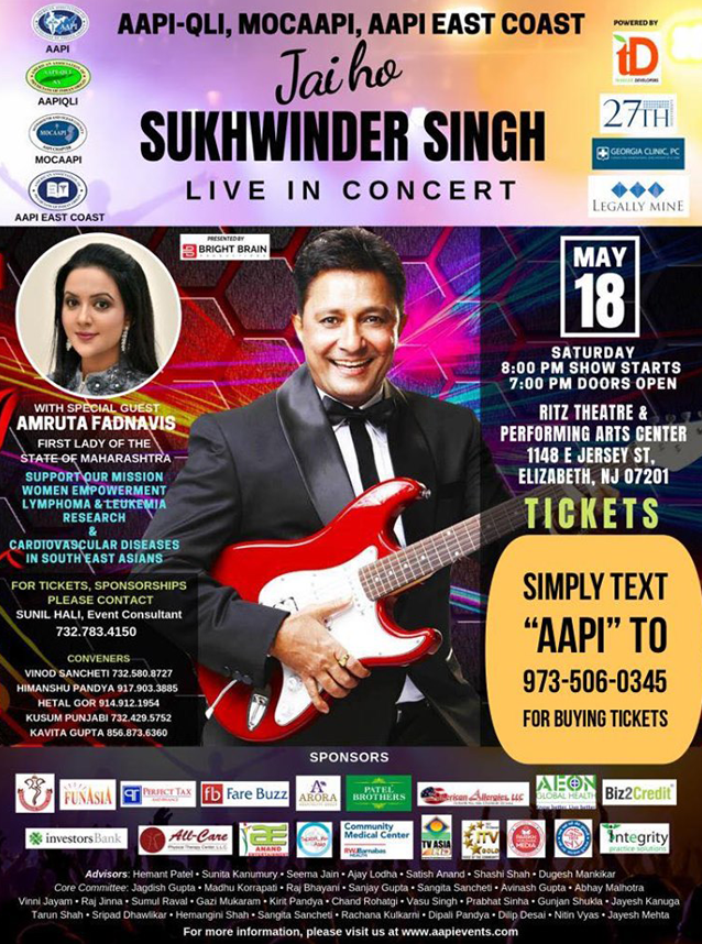 Sukhwinder Singh Live In Concert New Jersey