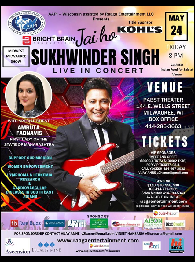 Sukhwinder Singh Live In Concert Milwaukee